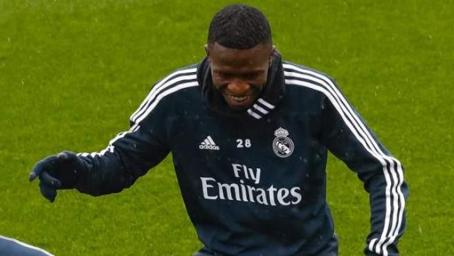 Vinícius Júnior, en un entrenamiento del Real Madrid