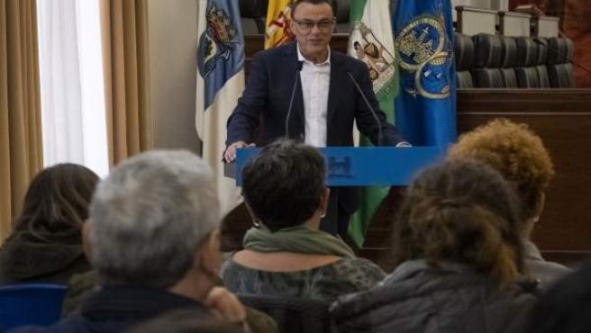 Ignacio Caraballo, en el acto de entrega de las becas HEBE.