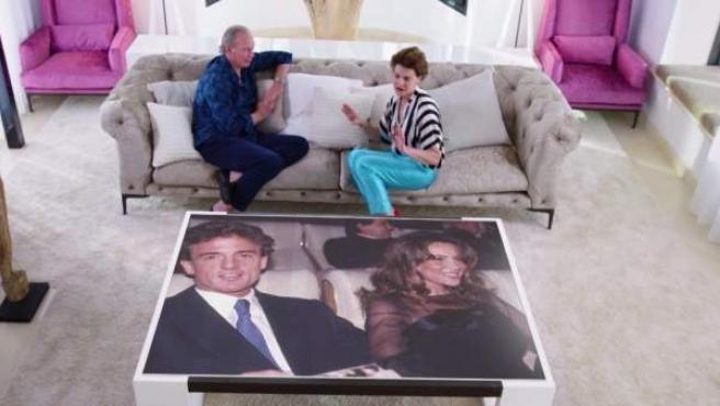 Antonia Dell'Atte, durante su entrevista con Bertín Osborne en el programa de Telecinco 'Mi casa es la vuestra'.