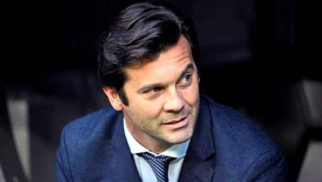 Santiago Solari, en su estreno en la Liga como entrenador del Real Madrid.
