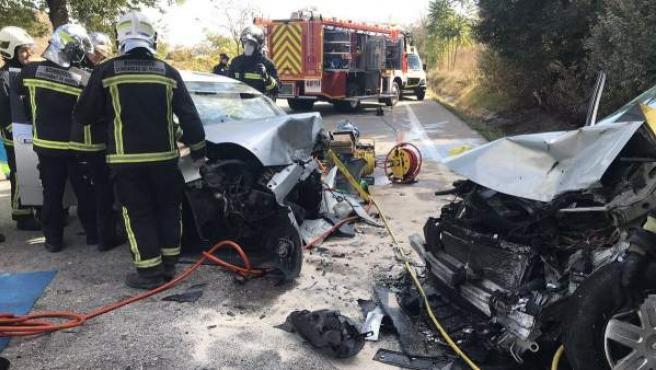 Imagen de un accidente de tráfico en Ciempozuelos.