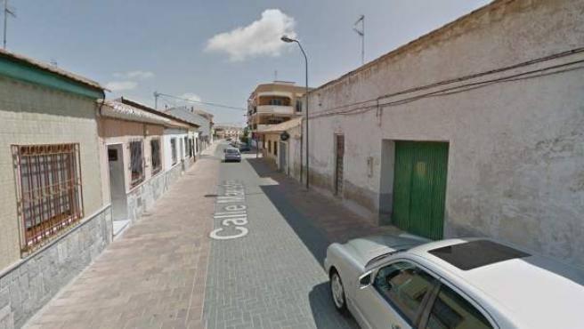 Imagen de la calle Maestre de San Javier donde ha tenido lugar la agresión sexual a una mujer.