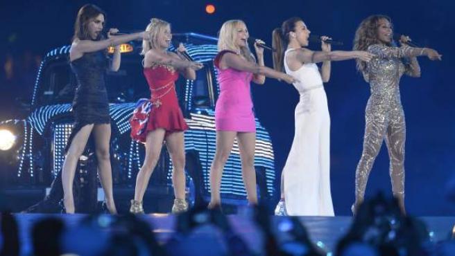 Las Spice Girls, en la ceremonia de clausura de los JJOO.
