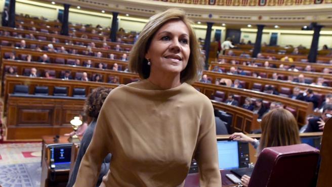 María Dolores de Cospedal, en el Congreso el pasado 30 de octubre de 2018.