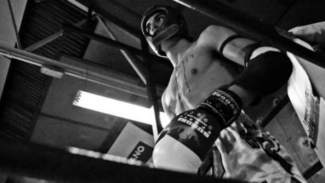 Un luchador de Muay Thai.