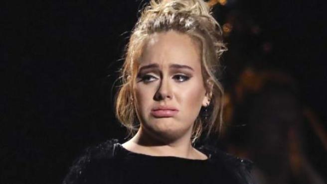 La cantante inglesa Adele, en los pasados premios Grammy.