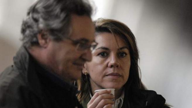 María Dolores de Cospedal y su marido, Ignacio López del Hierro.