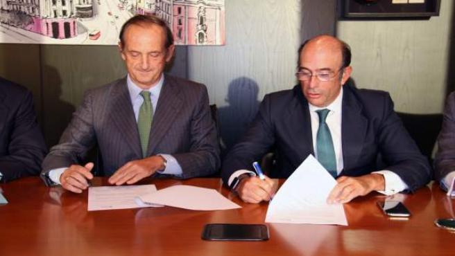 Los CEO de Ence, Ignacio Colmenares, y Enagás, Marcelino Oreja
