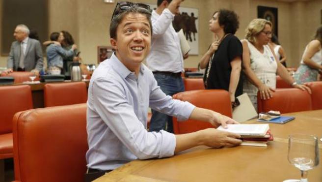 Errejón, en una reunión parlamentaria en agosto de 2018.