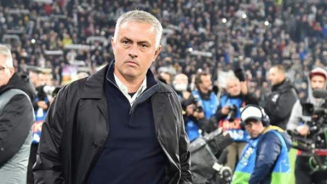Jose Mourinho, en el estadio de la Juventus.
