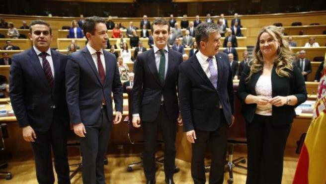 """Reunión del grupo """"popular"""" en el Senado."""