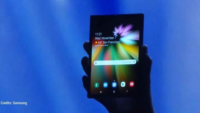 Samsung presenta su primer móvil plegable, el Infinity Flex Display