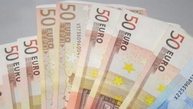 Imagen de billetes de euros.