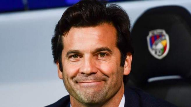 Santiago Solari, en su debut como entrenador del Real Madrid en la Champions League.