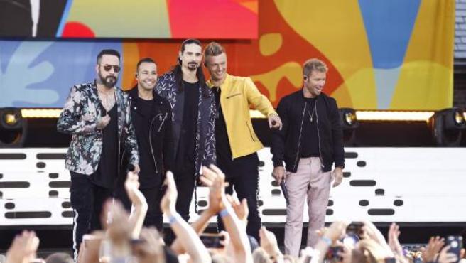 Imagen de los Backstreet Boys en un concierto reciente.