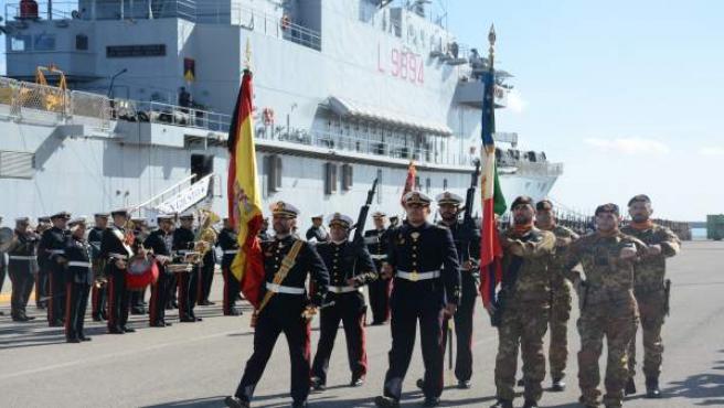 Acto en la Base de Rota (Cádiz)