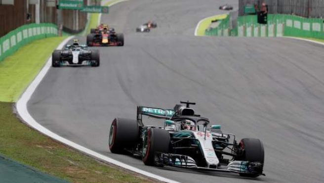 Lewis Hamilton, durante el GP de Brasil.