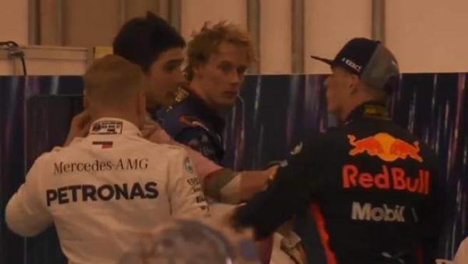Esteban Ocon y Max Verstappen llegaron a las manos tras el GP de Brasil