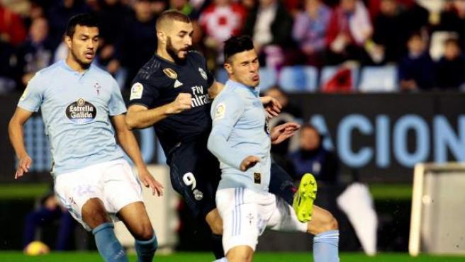 Karim Benzema, en el Celta-Real Madrid.