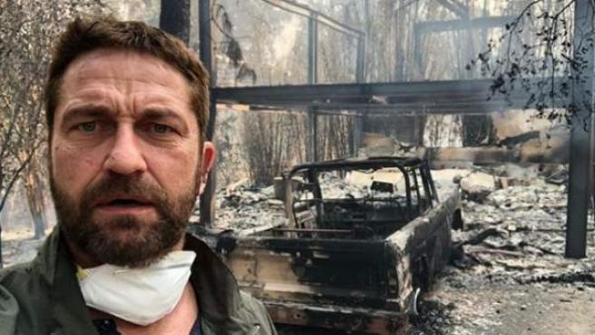El actor Gerard Butler ha mostrado el estado en el que ha quedado su vivienda de Malibú tras los incendios.