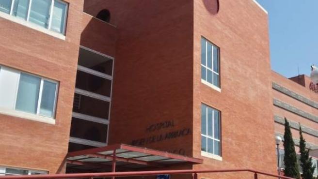 Fachada del Hospital Virgen de la Arrixaca, en Murcia.