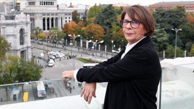 La delegada de Medio Ambiente y Movilidad, Inés Sabanés, en un balcón del Palacio de Cibeles.