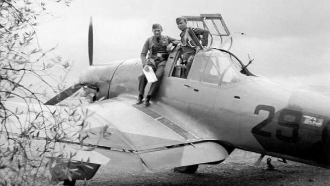 Uno de los tres Junkers 87-A 'Stuka'