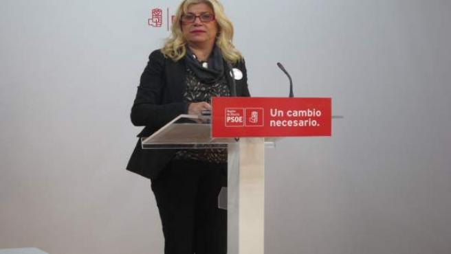 La vicesecretaria general del PSRM-PSOE, Gloria Alarcón