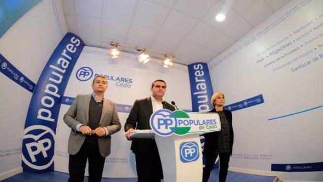 Pepe Oritz, candidato del PP, en rueda de prensa