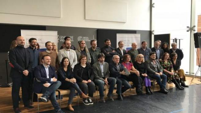 Algunos de los nominados a los Premios del Audiovisual Valenciano