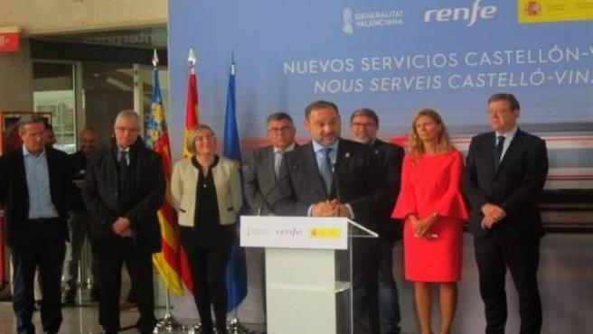 Ábalos en Castellón en la presentación de la ampliación de la oferta de trenes