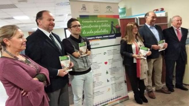 Presentación de CAEA de una campaña de alimentación saludable.
