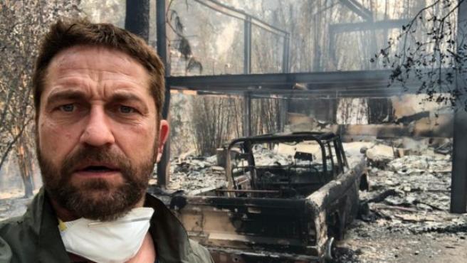 La casa de Gerard Butler tras los incendios de California.