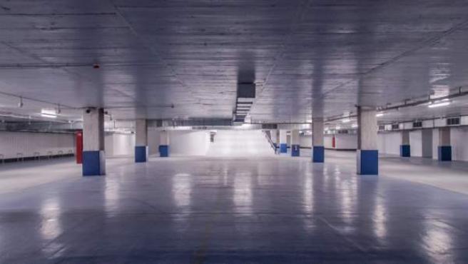Interior del aparcamiento, que se abrirá antes de las compras navideñas.