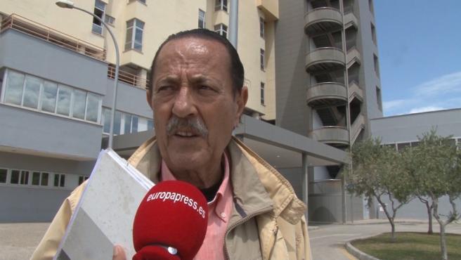 Julián Muñoz en el exterior de la Audiencia Provincial de Málaga.