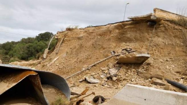 Carreteras afectadas por las inundaciones
