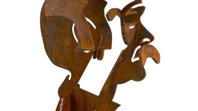 Busto de Labordeta, que se concede en los premios José Antonio Labordeta