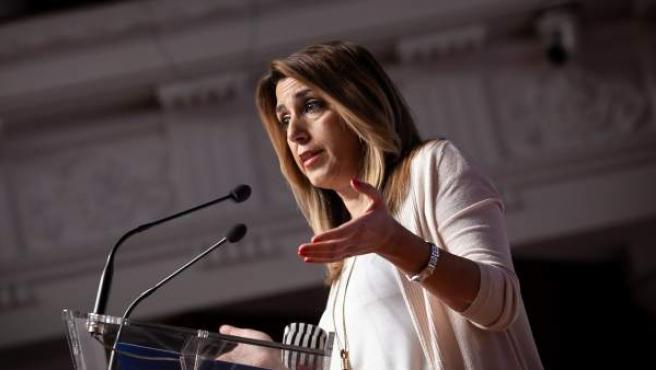 En Sevilla, la presidenta de la Junta de Andalucía, Susana Díaz.