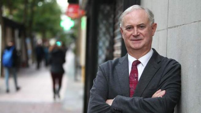 El historiador Enrique Moradiellos, durante su entrevista con 20minutos en Madrid.