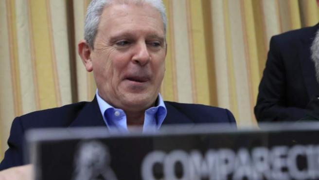 """Pablo Crespo, """"número dos"""" de la trama Gürtel, durante su comparecencia en la Comisión de investigación en el Congreso."""