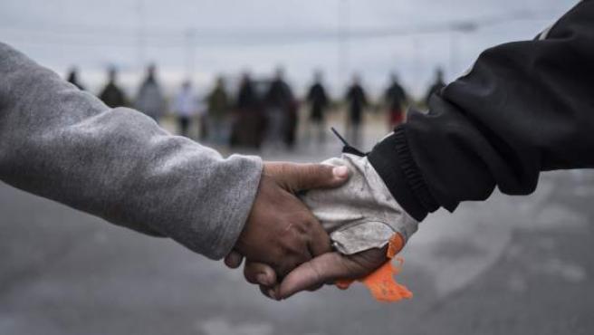 Menores Extranjeros no Acompañados (MENA) en Ceuta, antes de cruzar la frontera.