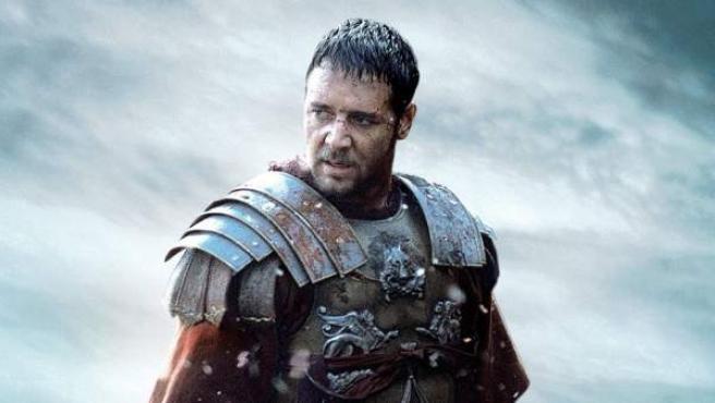 Rusell Crowe como Máximo Décimo Meridio en 'Gladiator' de Ridley Scott