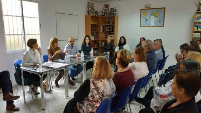Esperanza Oña y Margarita Del Cid en rueda de prensa en Torremolinos