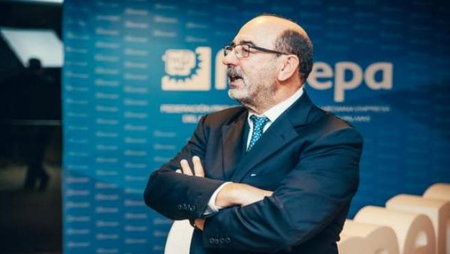 El presidente de Femepa y del Clúster Marítimo de Canarias, Vicente Marrero
