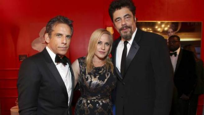 Ben Stiller, Patricia Arquette, y Benicio del Toro, en una imagen reciente.