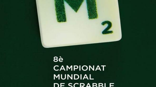 Cartel Campeonato Mundial de 'Scrabble' en catalán