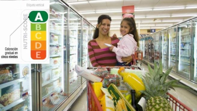 En Nutriscore los colores verdes identifican a los alimentos más saludables.