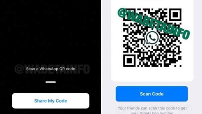 Nueva forma de añadir contactos en Whatsapp a través de la lectura de un código QR.