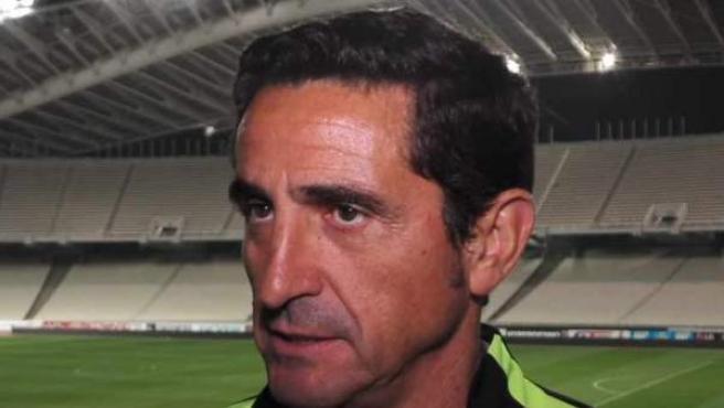 El entrenador Manolo Jiménez.