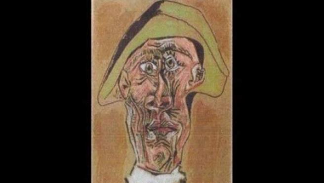 Imagen del cuadro de Picasso 'Tête d'Arlequin', robado en un museo de Rotterdam en 2012.